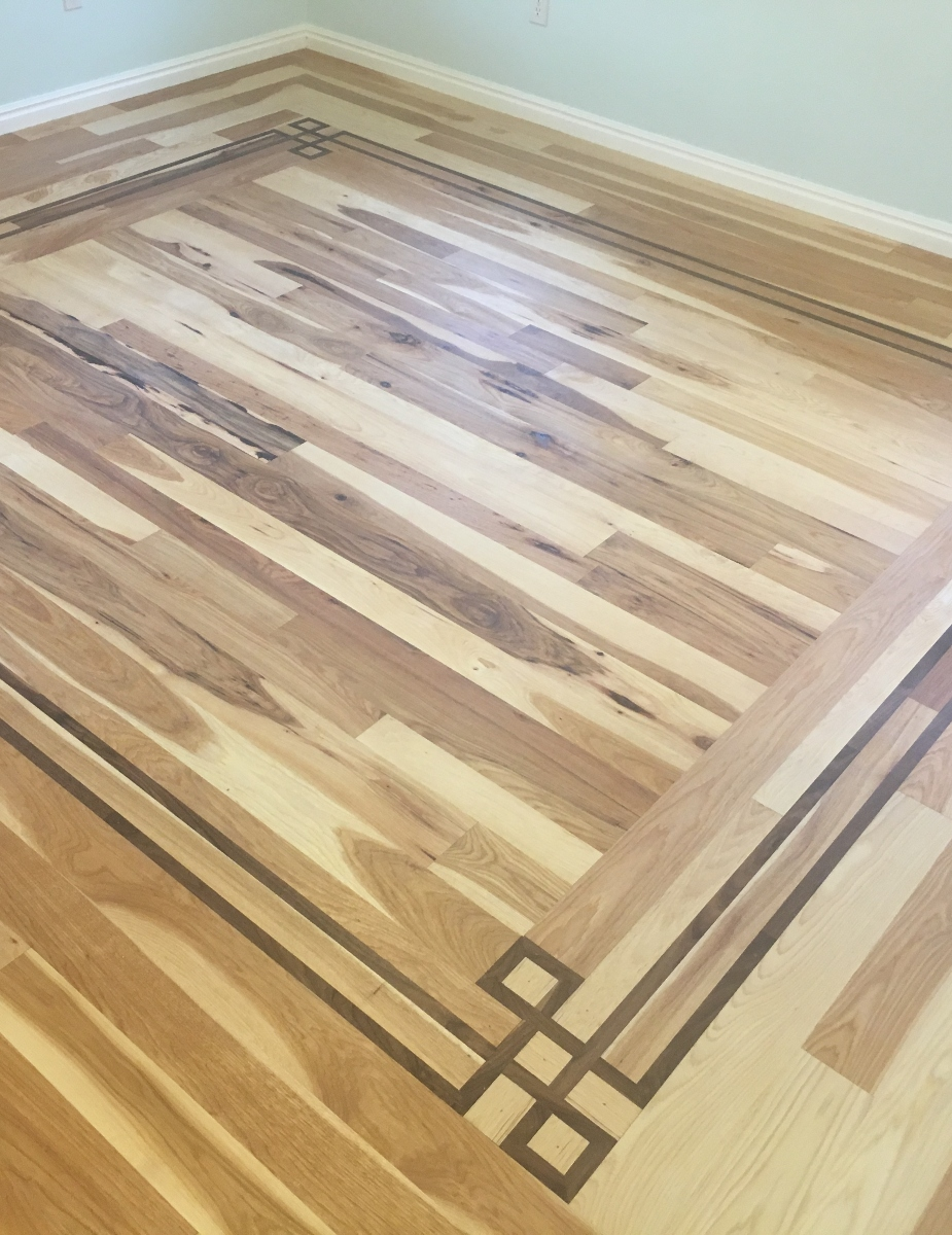 Rustic Hickory with Walnut Inlay