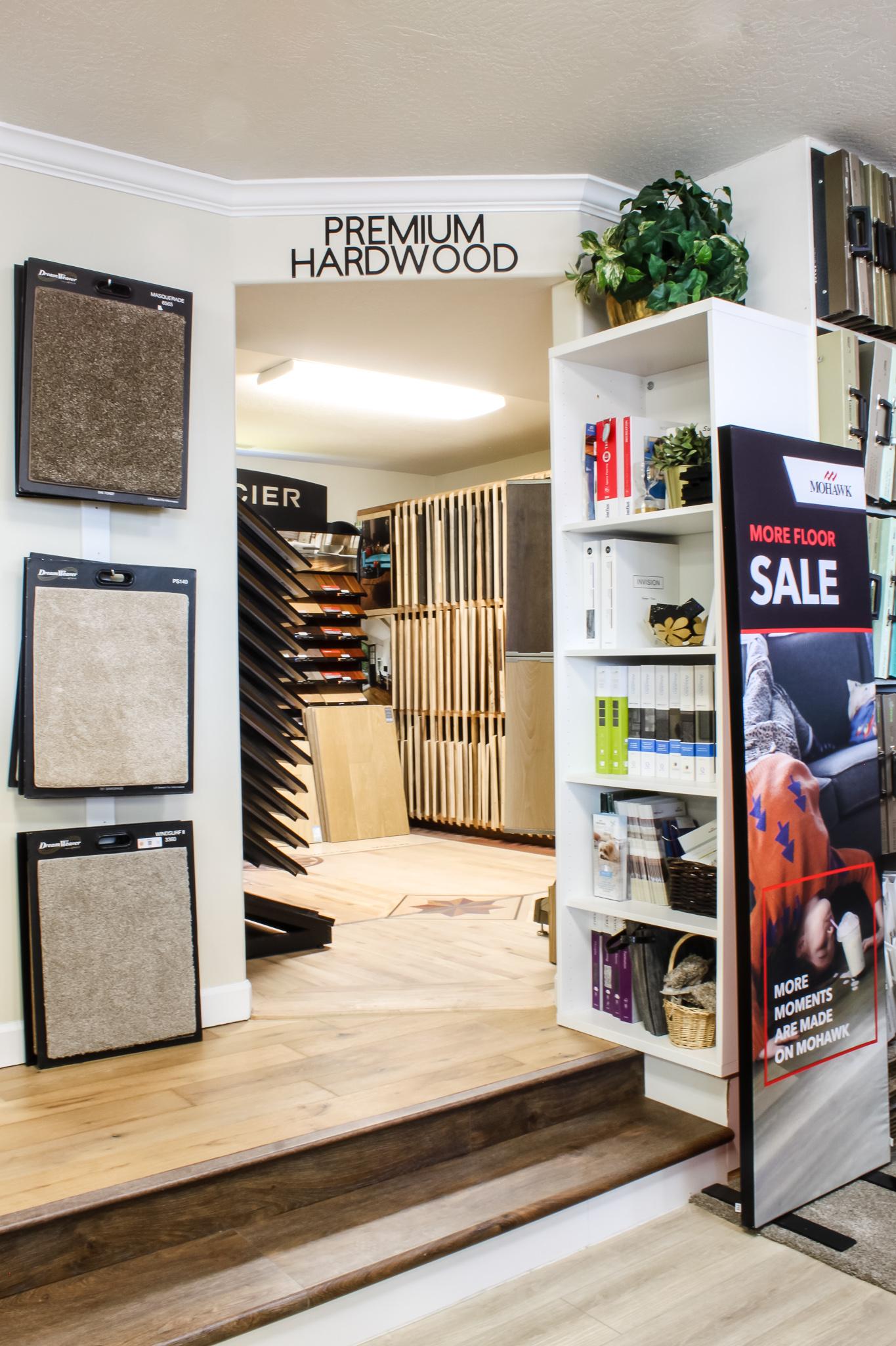 The Pyne Floor Coverings wood display room