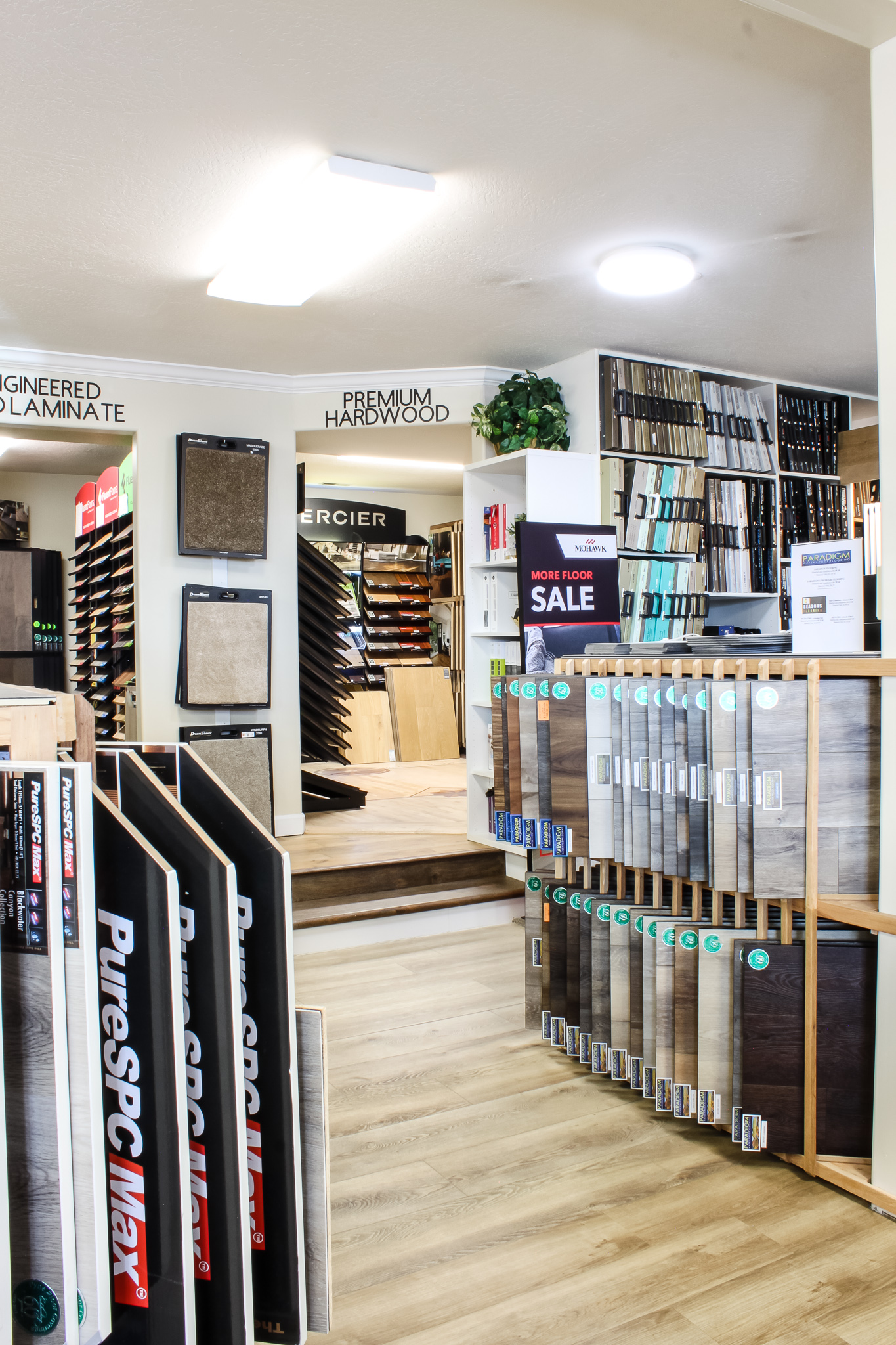 The showroom at PFC