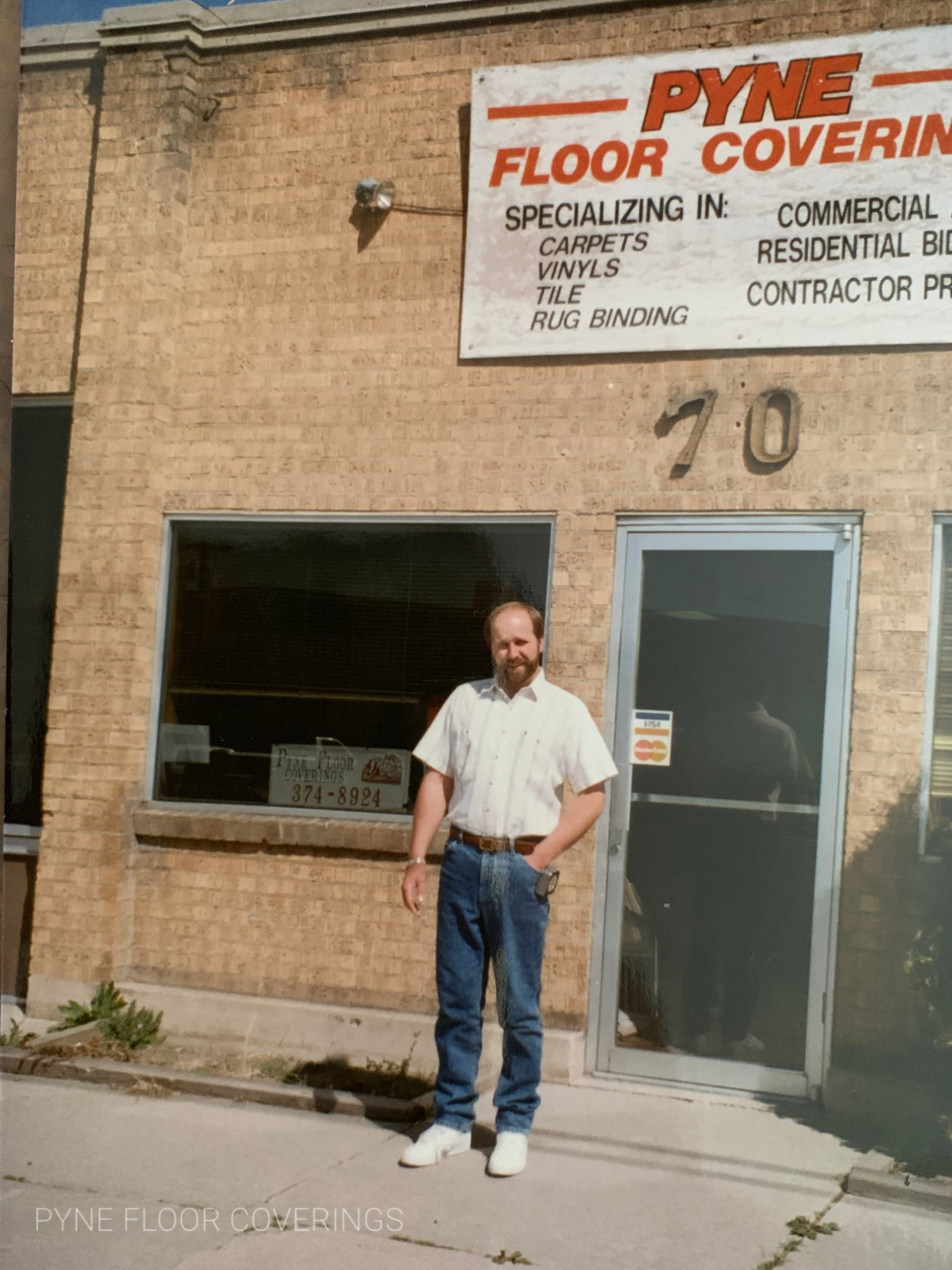 Jeff Pyne outside the old Provo shop